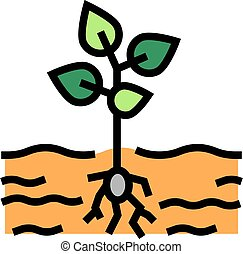 growing plant color icon vector illustration