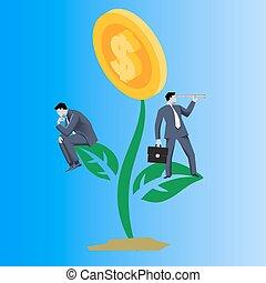 Growing profit business concept