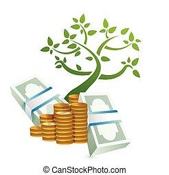 growing profits concept illustration