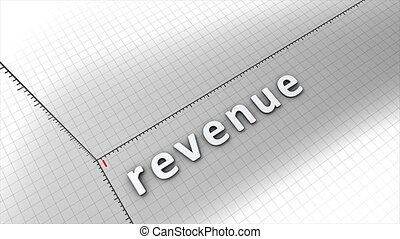 Growing revenue chart graphic animation.