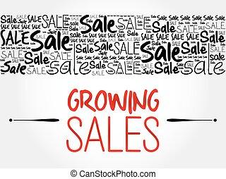 Growing Sales word cloud background