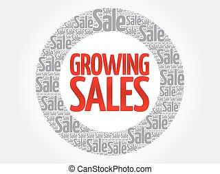 Growing Sales words cloud