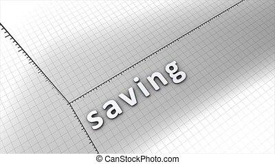 Growing saving chart graphic animation.