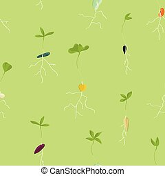 Growing seeds background