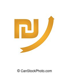 Growing shekel icon