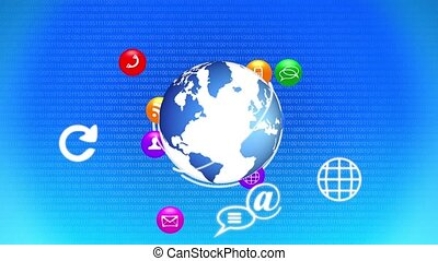 Growing social network around the world