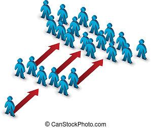 growing team symbol illustration