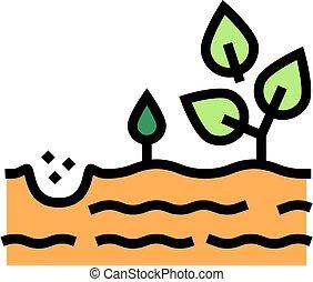 growing tree color icon vector illustration