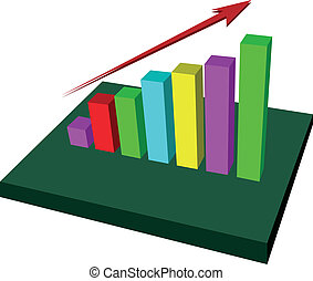 Growing Up Graph vector - red arrow growing up graph vector...