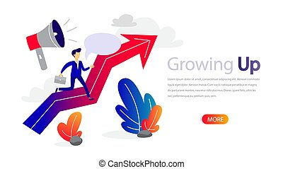 Growing up horizontal banner for your website. Online...