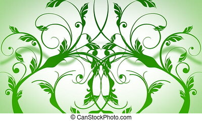 GROWING VINES in green and white colours