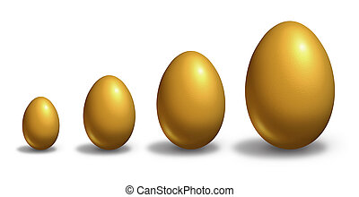Growing Wealth - Growing wealth with golden eggs growing...