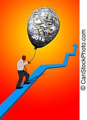 Growing your 401K retirement.