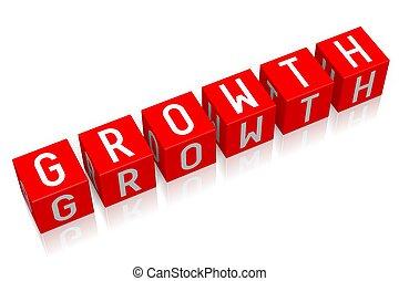 Growth - 3D cube word