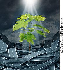 Growth Achievement - Growth achievement as a tree sapling...