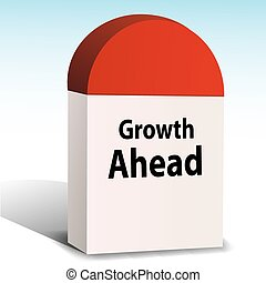 growth ahead - illustration of growth ahead on white...
