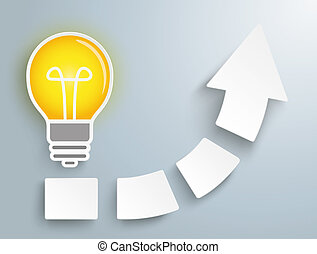 Growth Arrow Four Pieces Bulb Idea