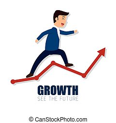 growth arrow success business man