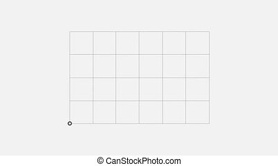 Many chart on a white background - growth bar chart on the...