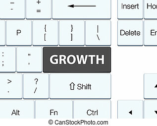 Growth black keyboard button