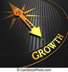 growth., business, arrière-plan.