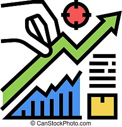 growth business color icon vector illustration sign