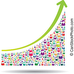 Growth chart and prgresso leading to success