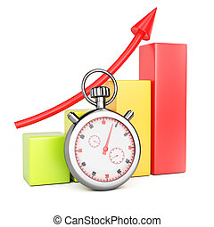 Growth chart and stopwatch