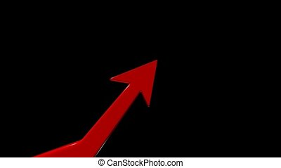 Growth chart. Financial success. Positive forecast -...
