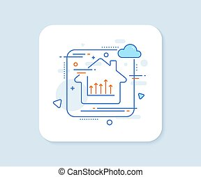 Growth chart line icon. Upper arrows sign. Vector