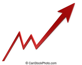 Growth Chart  - Business graph concept images