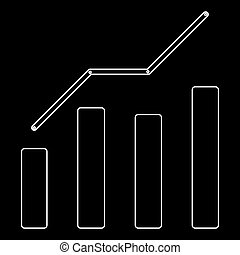Growth chart the white path icon .