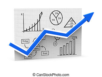 Growth concept - Business chart showing the economic growth