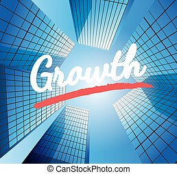Growth concept with abstract background