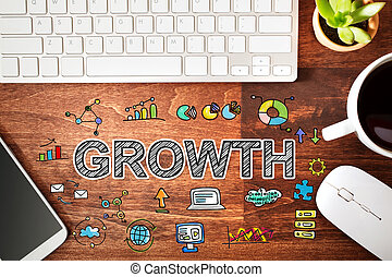 Growth concept with workstation