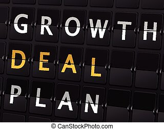 growth deal plan words on airport board