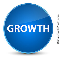 Growth elegant blue round button