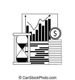 Growth financial chart