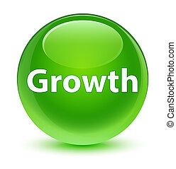 Growth glassy green round button