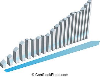 Growth graph charts system progress