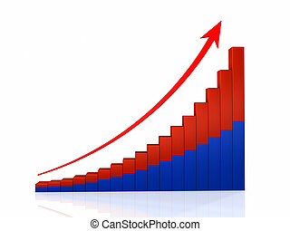 Growth Graph With Arrow
