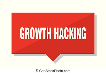 growth hacking red tag - growth hacking red square price tag