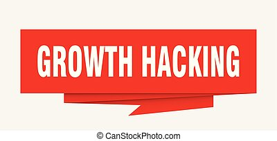 growth hacking sign. growth hacking paper origami speech...