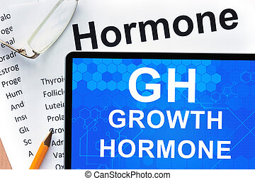 growth hormone (GH) - Papers with hormones list and tablet...