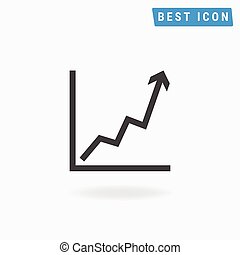Growth icon, vector icon eps10.
