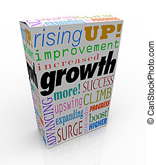 Growth Increase Improve Rise Up More Success Product Package...