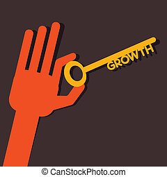 Growth key in hand