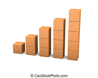 Growth made of wooden blocks