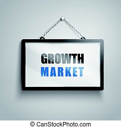 growth market text sign