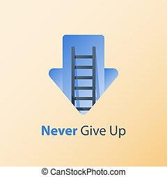 Growth mindset, never give up concept, positive thinking, ...